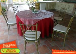 Renta de Sillas y Mesas para Eventos en Monterrey - Tel 82 25 72 60