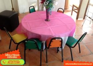 Renta de Sillas y Mesas Infantiles en Monterrey - Tel 82 25 72 60